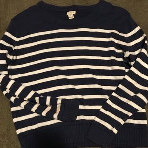 J Crew Navy Stripped Sweater
